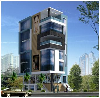 A 4 Storeyed Building Elevation Joy Studio Design