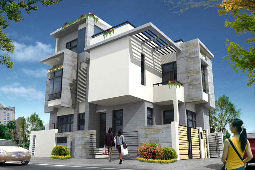 ... Single Storey House Design besides Beautiful Home Design. on modern